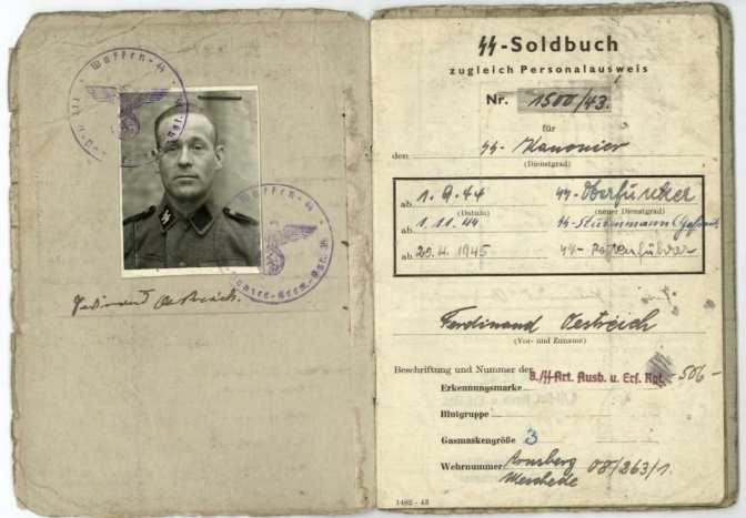 German Soldbuch 1