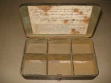 US Luminous Disc Marker Lead-Lined Box with instructions